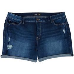Royalty Plus Cuffed Denim Shorts