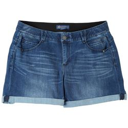 Democracy Womens Rolled Mid Rise Shorts