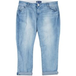 Democracy Plus Ab-solution Solid High Rise Cropped Jeans