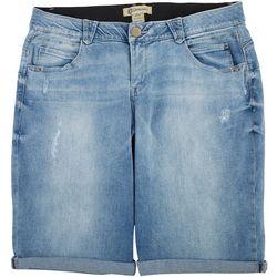Democracy Plus Distressed Mold & Hold Bermuda Shorts