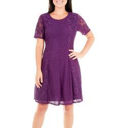 Womens Dual Lace Panel Dress