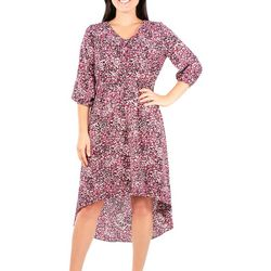 NY Collection Petite Printed High Low Dress