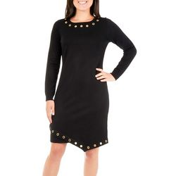 NY Collection Petite Asymmetrical Sweater Dress