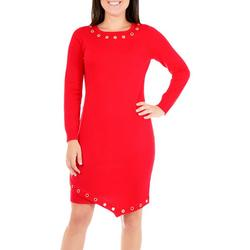 Petite Asymmetrical Sweater Dress