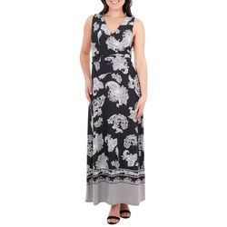 NY Collection Womens Wrap Front Maxi Dress & Belt