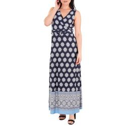Womens Wrap Maxi Dress & Belt Trim