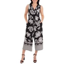 NY Collection Womens Sleeveless Gaucho Jumpsuit