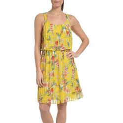 Petite Floral Pleated Popover Dress