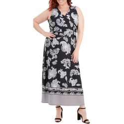 NY Collection Plus Wrap Front Maxi Dress
