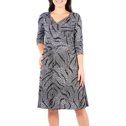 Womens Printed Ruched Dress