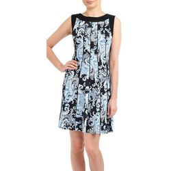 NY Collection Womens Paisley Fit & Flare Dress