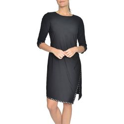 NY Collection Womens Studded Bodycon Dress