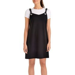 NY Collection Womens Leather Strap Tank Dress