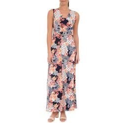 NY Collection Womens Multi-Print Maxi Dress