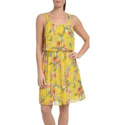 NY Collection Womens Floral Popover Sundress
