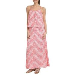 NY Collection Womens Spaghetti Strap Popover Maxi