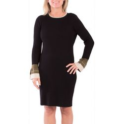 NY Collection Petite Bell Sleeve Sweater Dress