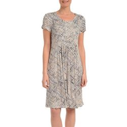NY Collection Petite Print Fit and Flare Dress