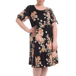 NY Collection Plus Floral Fit & Flare Godet Dress