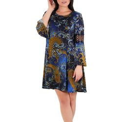 NY Collection Petite Bell Sleeve Crochet Dress