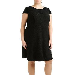 NY Collection Plus Cap Sleeve Fit & Flare Dress