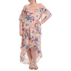 Plus Floral High Low Maxi Dress