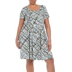 NY Collection Plus Print Fit & Flare Dress