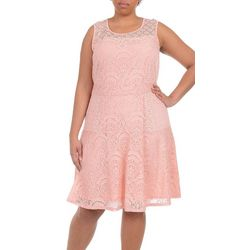 NY Collection Plus Sleeveless Fit & Flare Dress