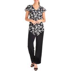 Womens Floral Chiffon Jumpsuit