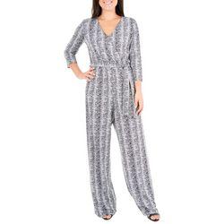 NY Collection Petite Stripe Crommet Jumpsuit