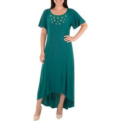 Petite Embellished High-Low Dress