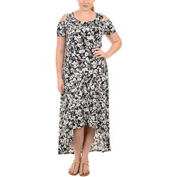 NY Collection Plus Cold Shoulder Hi-Low Maxi Dress