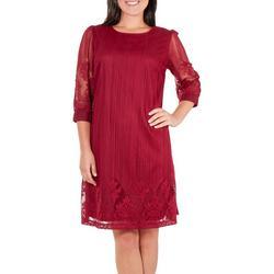 Womens Border Lace A-Line Dress