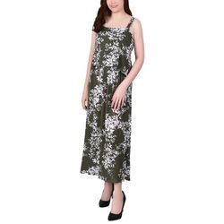 NY Collection Womens Floral Midi Dress