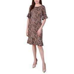 NY Collection Petite Flounce Hem Dress