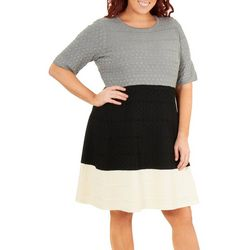 NY Collection Plus Colorblock Dress