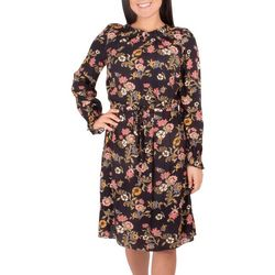 NY Collection Petite Long Sleeve Peasant Dress