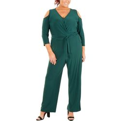 NY Collection Plus Cold Shoulder Jumpsuit