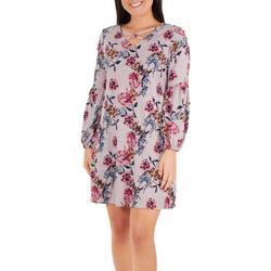 Petite Floral Lattice Dress