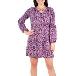 Petite Pritned Lattice Dress