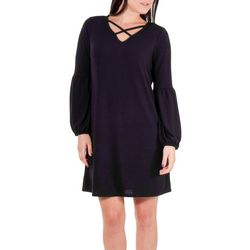 NY Collection Petite Solid Lattice Dress