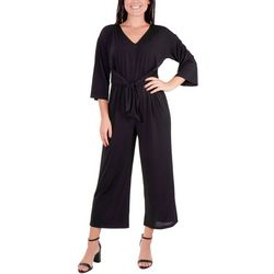 NY Collection Petite Tie Front Jumpsuit