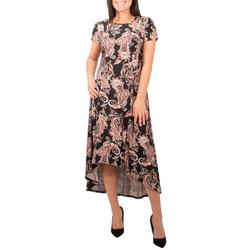 Petite Short Sleeve High Low Dress