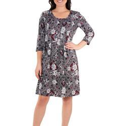 Petite Box Pleated Dress