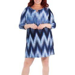 Plus Striped Keyhome Shift Dress