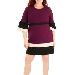 NY Collection Plus Bodycon Color Block Dress