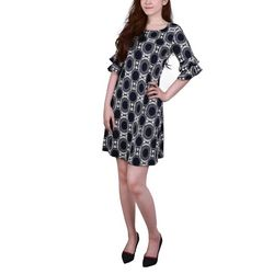 NY Collection Petite Double Bell Sleeve Dress