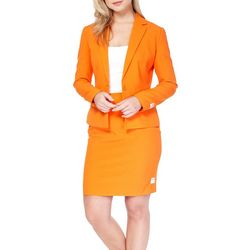 Opposuits Womens Foxy Orange Skirt Suit
