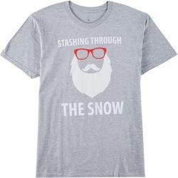 Horizon Mens Stashing Through The Snow T-Shirt