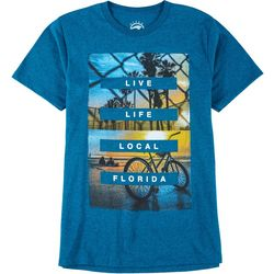Ocean Current Mens Live Life Local Florida T-Shirt